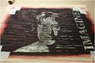 John Lennon Linoldrucke